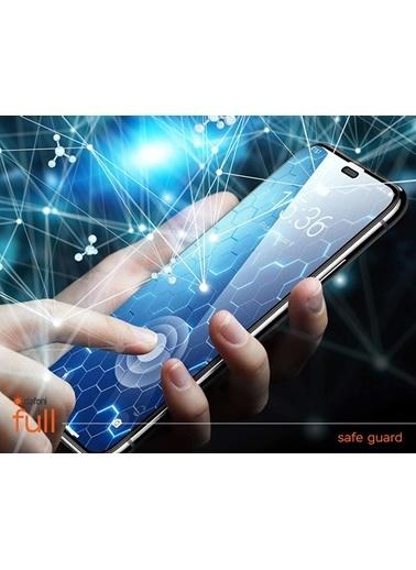 MobilCadde Dafoni Huawei P10 Lite Tempered Glass Premium Full Beyaz Cam Ekran Koruyucu Beyaz